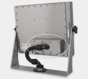 "KVM Extender mounted to rear of 19"" Universal Mount Monitor"