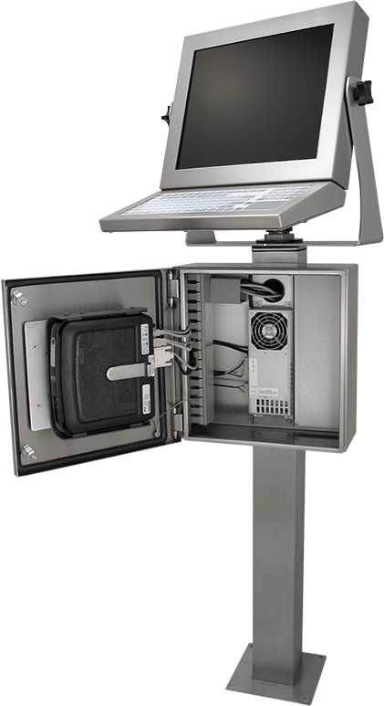 HIS Thin Client Enclosure Workstation is the perfect home for ThinManager devices
