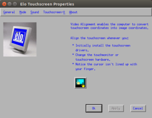 Elo Touch Screen Video Alignment