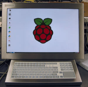 Hope Industrial UM22 Touchscreen and Keyboard with Raspberry Pi internally integrated