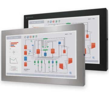 """23"""" Widescreen Universal Mount Industrial Monitors and IP65/IP66 Rugged Touch Screens, fully enclosed displays"""
