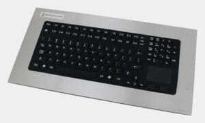 Panel Mount Full-Travel Keyboard with Capacitive Touchpad
