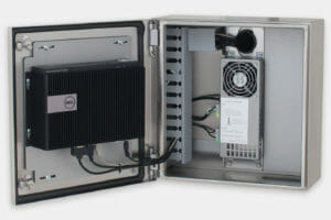 Industrial Enclosure for Thin Clients and Small PCs with Dell Box PC 3000 Mounted