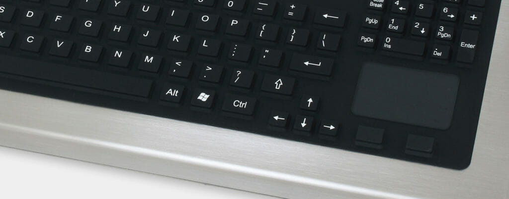 Full-Travel Keypad Option with Touchpad, IP65/IP66 rated