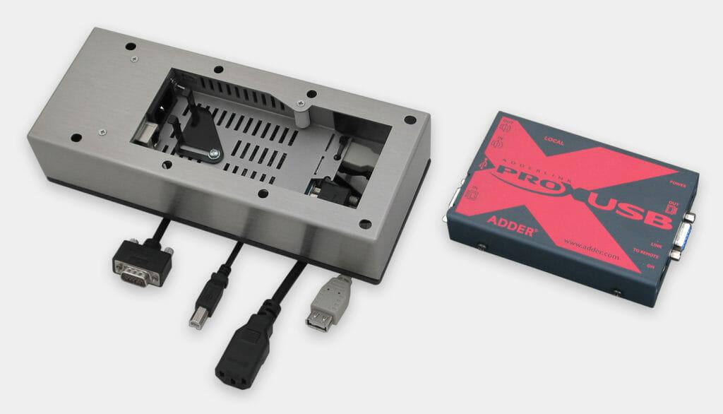 USB-Monitor-montierter Extender, entfernte und lokale Einheiten