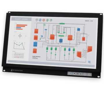 """19.5"""" Widescreen Rack Mount Industrial Monitors and IP20 Rugged Touch Screens"""