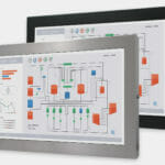 "22"" Widescreen Universal Mount Industrial Monitors and IP65/IP66 Rugged Touch Screens, front view"