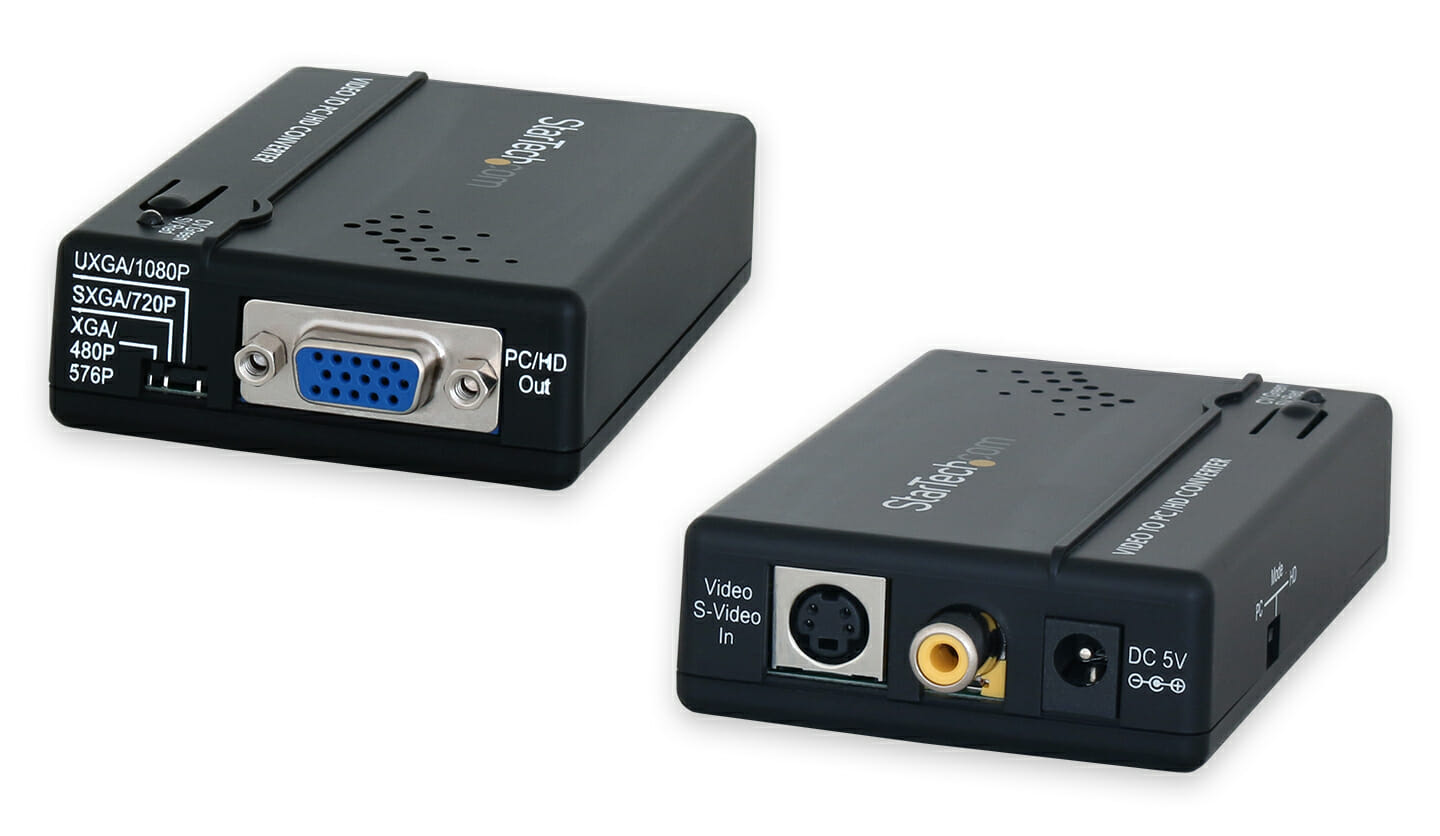 Composite or S-Video to VGA (HD-15) Converter